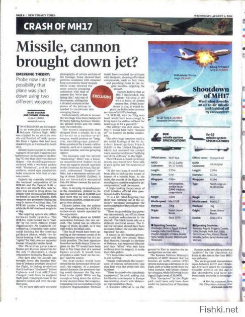 Статья в малазийской газете