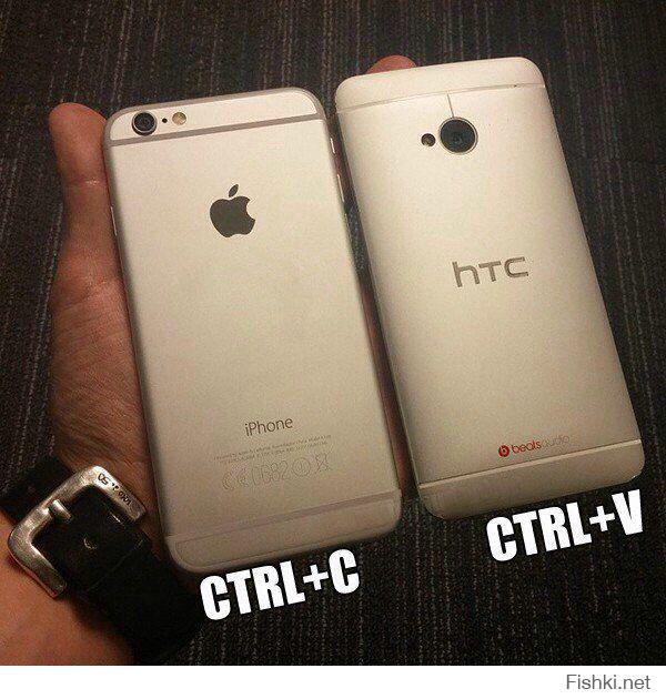 Не допонял,кто с кого скопировал . Получается скопировали айфон и сделали htc/ Мне думается HTC вышел минимум год назад